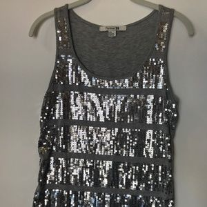 Forever 21 Womens Sequin Covered Tank Top Size L